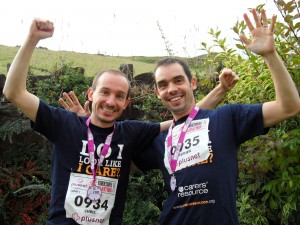 Chris and Steve Pugh - marathon runners who have supported us in the past.