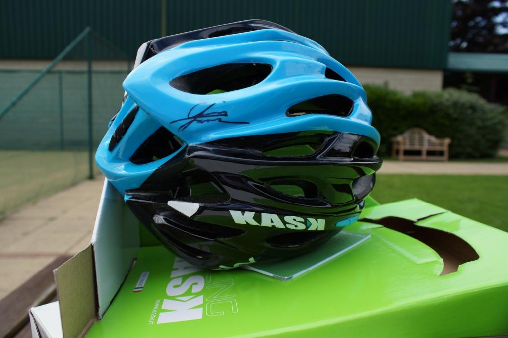 Authographed Chris Froome Helmet