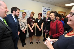 Princess Anne meets the CReate team while visiting our Bradford office