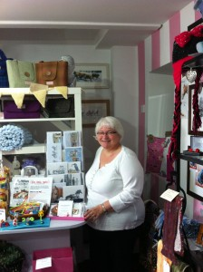 Crafter Angela Malcolm in her shop Been Busy