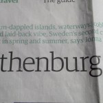 Article on Gothenburg