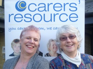 Carers' Resource New Director Chris Whiley (left) and charity founder Anne Smyth