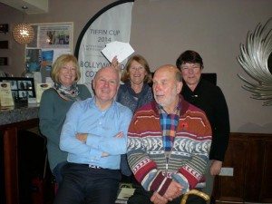 The winning quiz team at last year's fun event