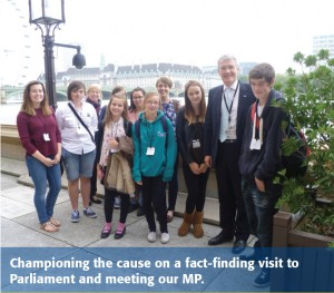 Young carers on a special visit to the House of Commons with Harrogate MP Andrew Jones