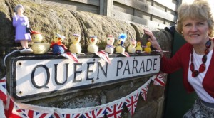 Chicks on parade, with Anne Wells, Fundraising and Events Manager