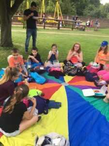 Young carers enjoying a summer picnic at Newby Hall, Ripon