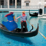 Knitted chick on a gondola