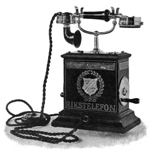 A very old fashioned telephone